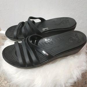 Crocs BlackRhonda Wedge SandalWomen's